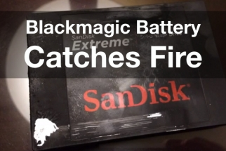 Blackmagic Cinema Camera Catches Fire During Filming