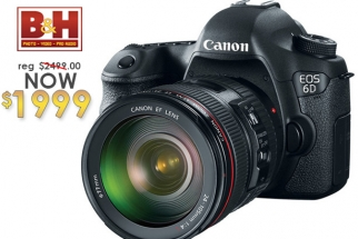 B&H Deal - Canon EOS 6D w/Canon 24-105mm f/4.0L IS for $1999