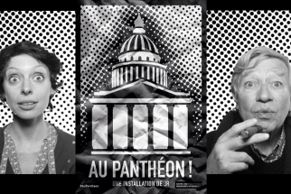 """Au Pantheon"": Project Adorns Construction Around Pantheon With Gigantic Portraits"