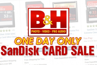 SanDisk  One Day Only Sale at B&H