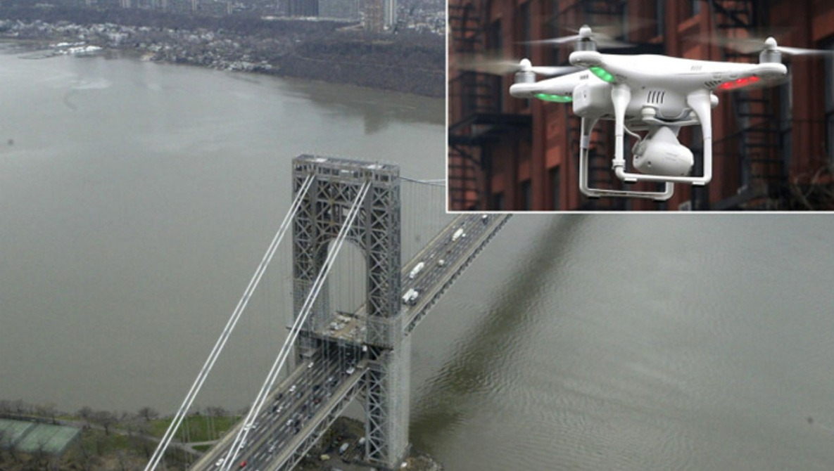 Two Drones Nearly Collide With NYPD Chopper
