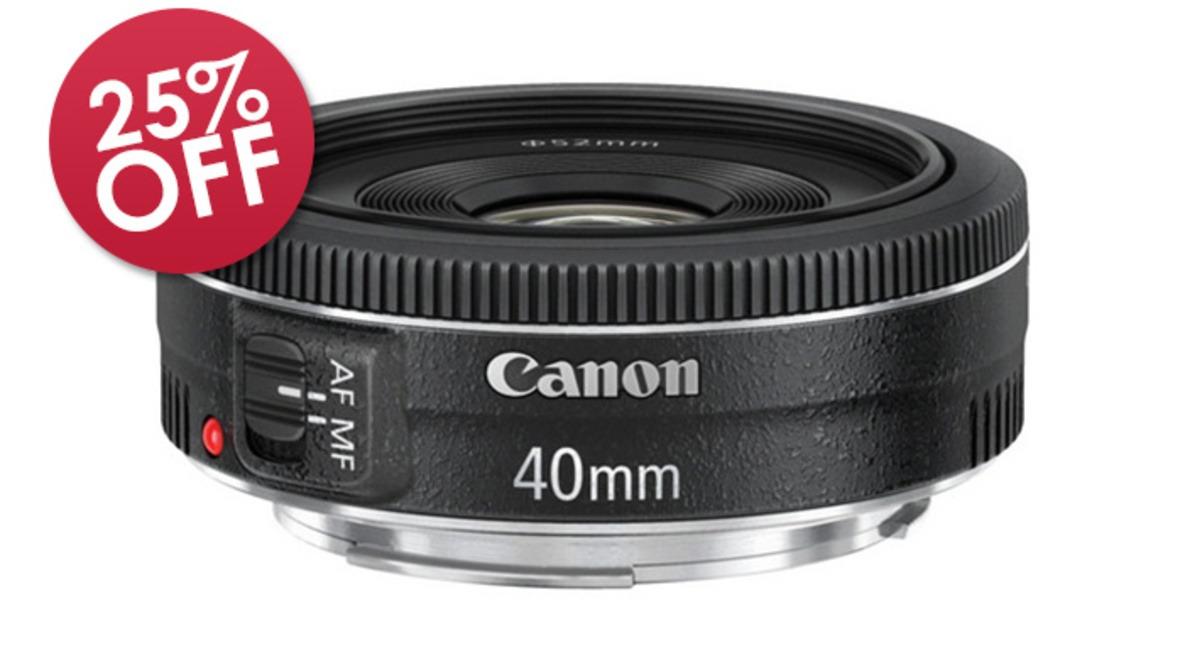 B&H Deal: 25% Off Canon EF 40mm f/2.8 Pancake Lens