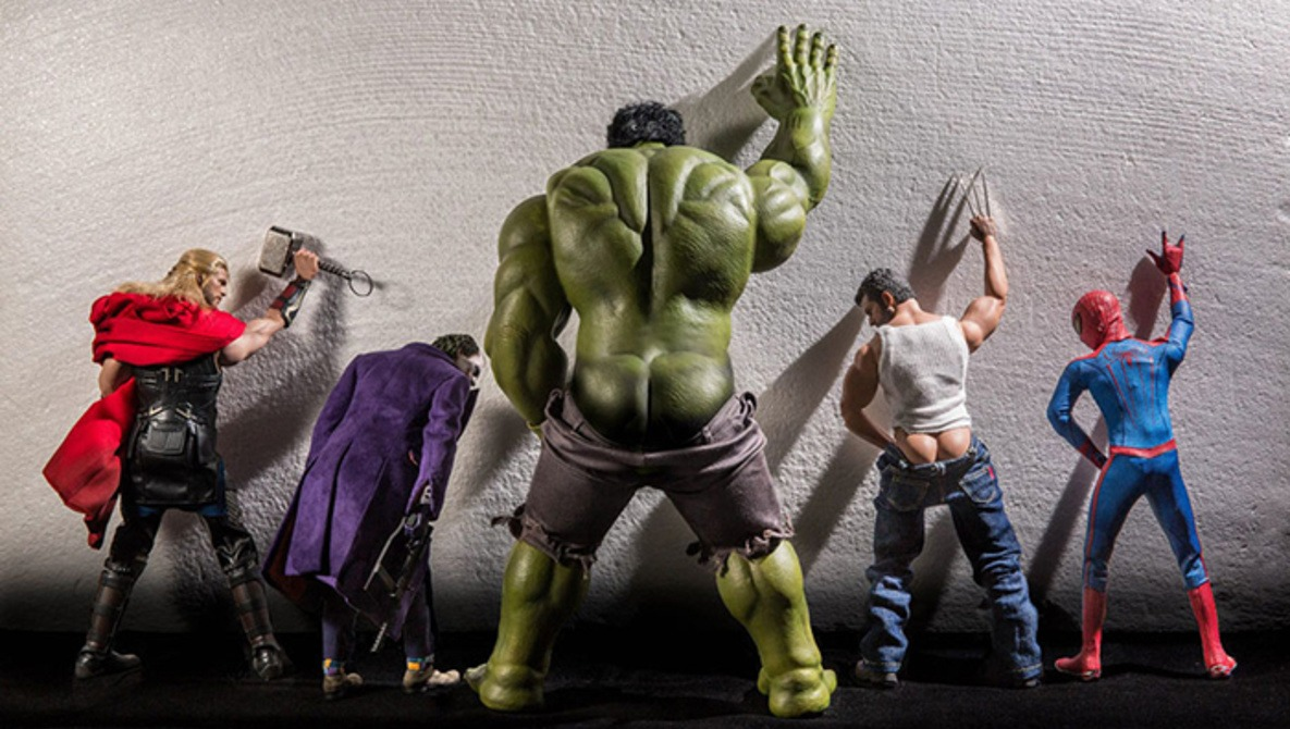Photographer Creates Hilarious Photo Series Using Marvel Characters in Unique Situations