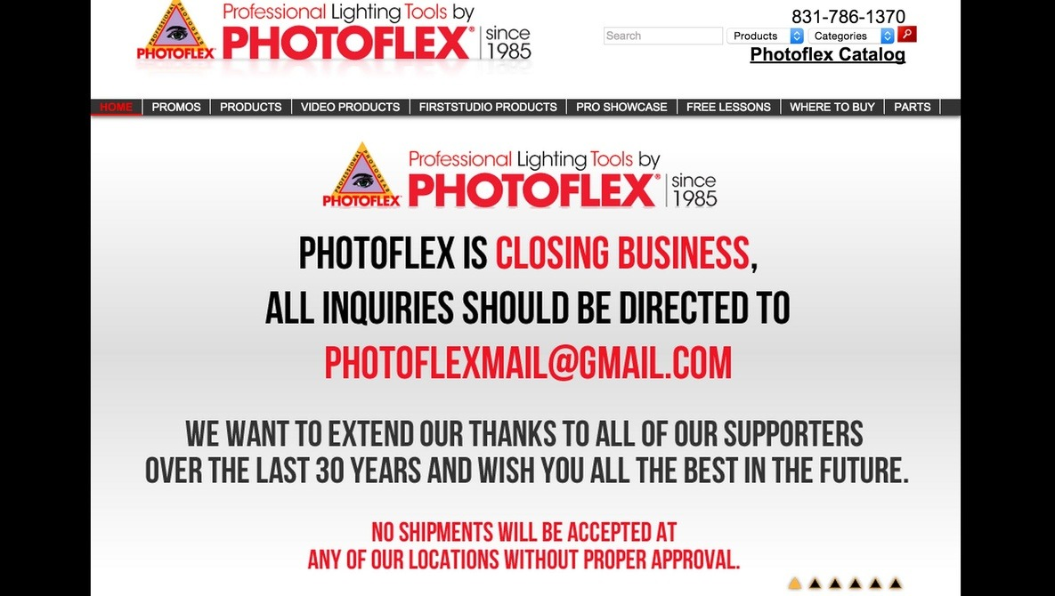 Popular Photo Accessory Company Photoflex Just Went Out Of Business Without Warning