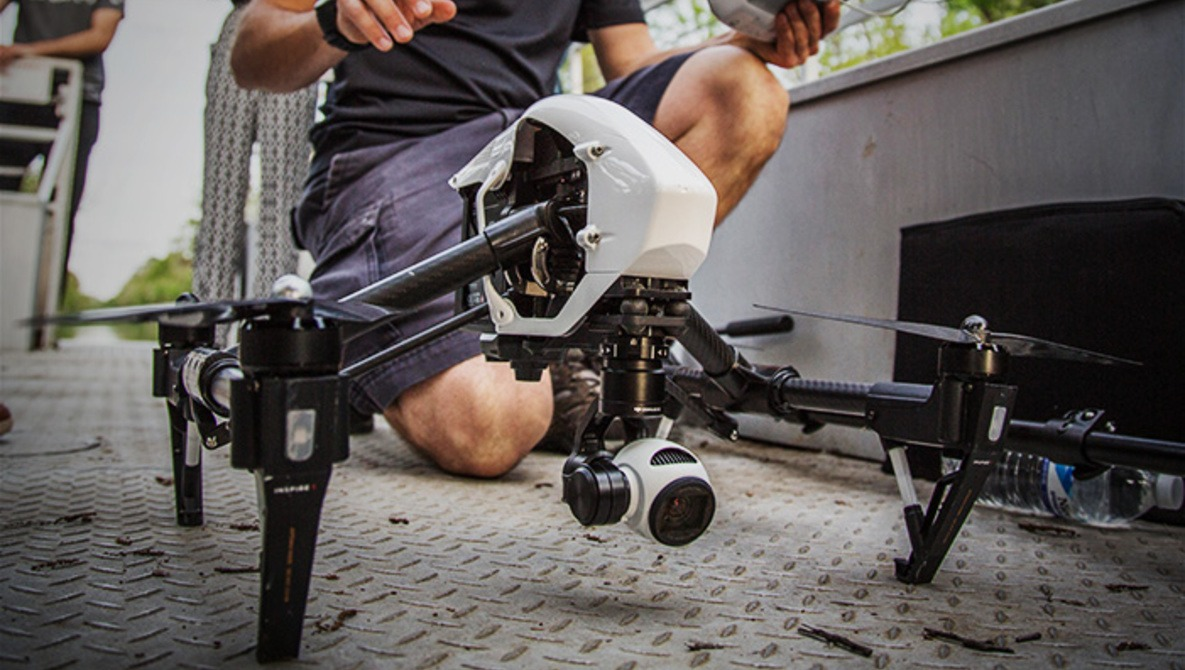 Hands On with the DJI Inspire Quadcopter, Capturing 4K Aerial Video