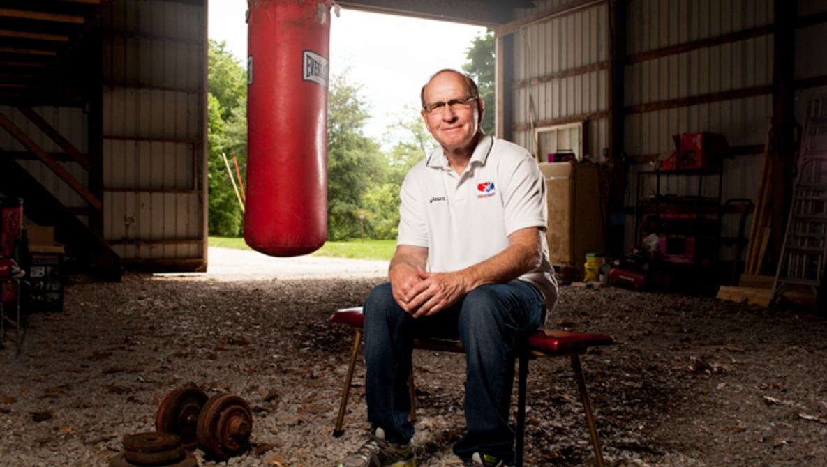 Photographing Dan Gable for Sports Illustrated