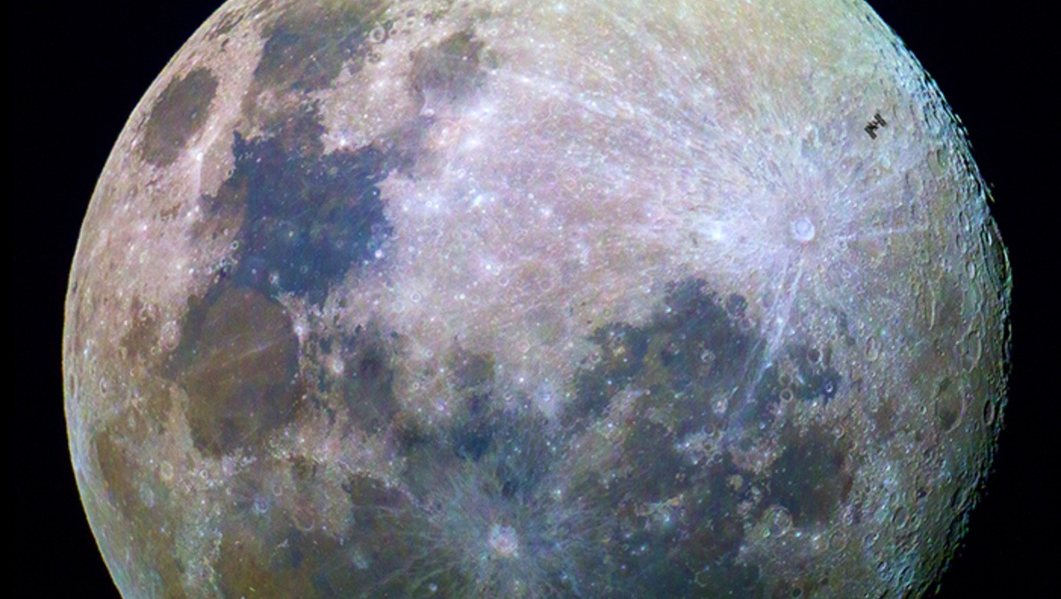 Photographer Captures Image of the ISS Crossing in Front of the Moon