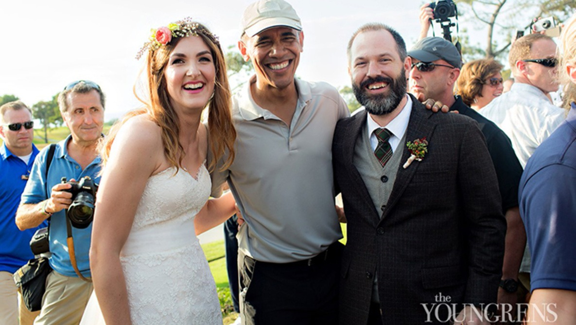 President Obama Greets Couple before Wedding Ceremony   Fstoppers