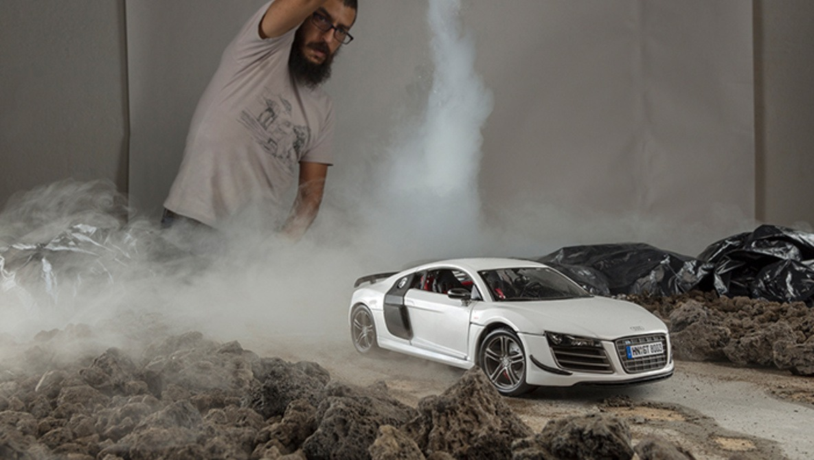 Photographer Uses Toy Model Audi R8 For Epic Shoot