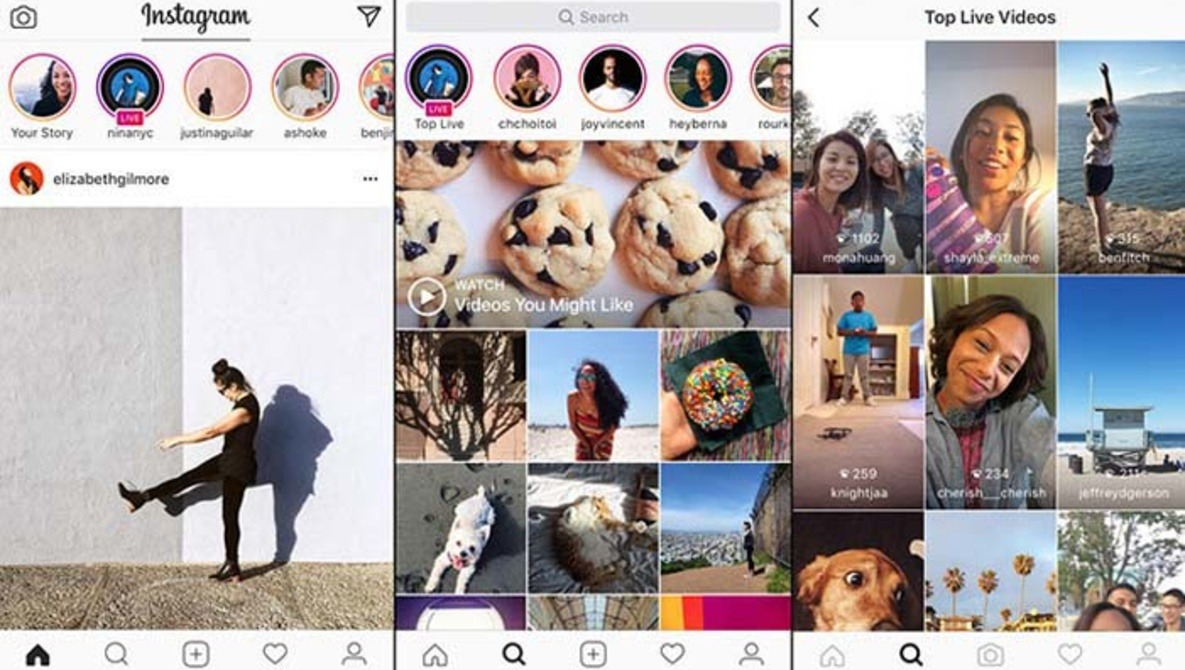 Instagram Launches Live Video and Snapchat-Style Disappearing Photos