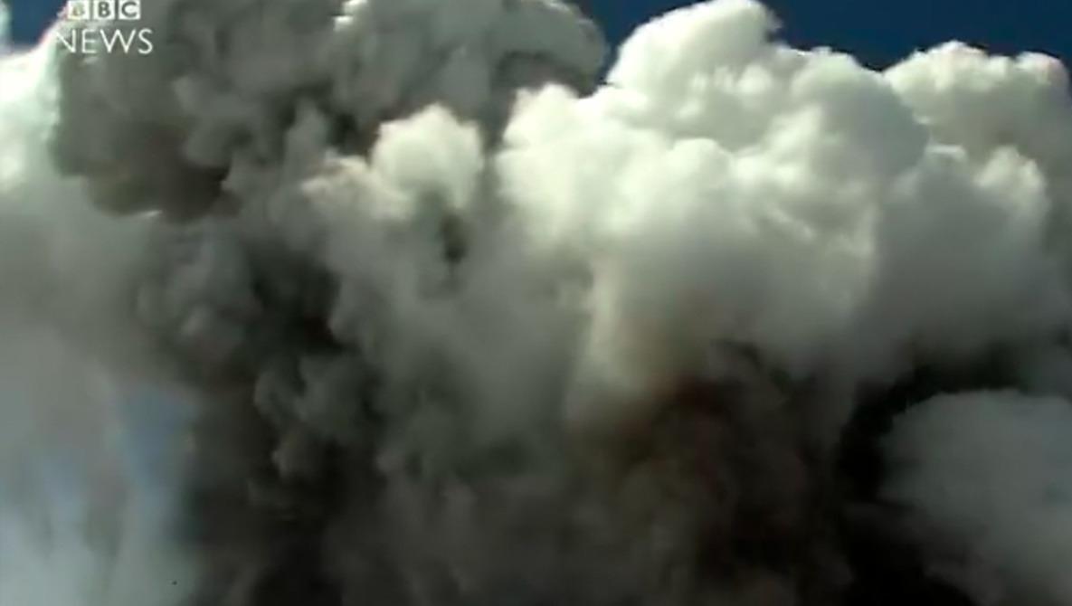 BBC Camera Crew Caught by Volcanic Explosion