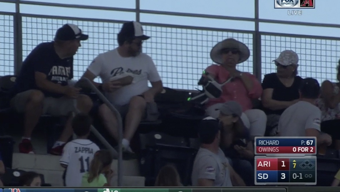Drone Crashes, Nearly Hits Spectator in Stadium During Major League Baseball Game