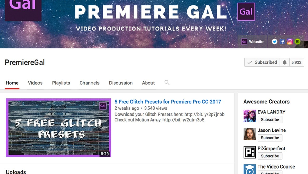 If You Want to Learn Adobe Premiere Pro, Subscribe to This YouTuber