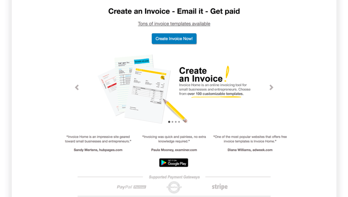 Fstoppers Reviews Invoice Templates From InvoiceHomecom Fstoppers - Free invoice template : invoice website