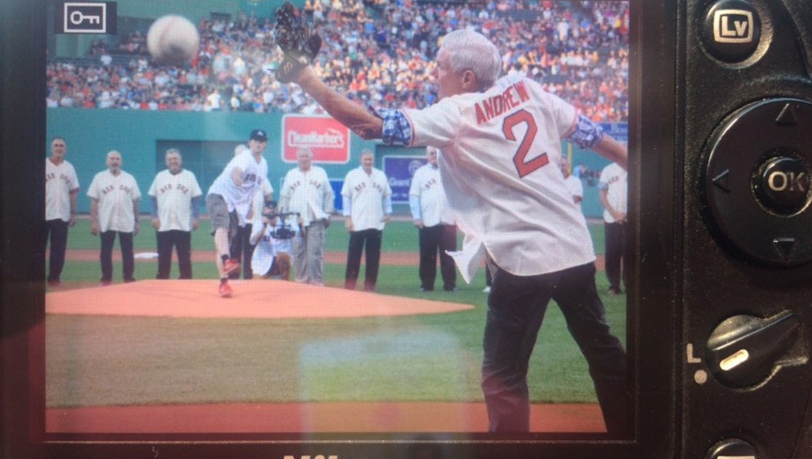 Horrendous First Pitch at Red Sox Game Gives Photographer Very Bad Day