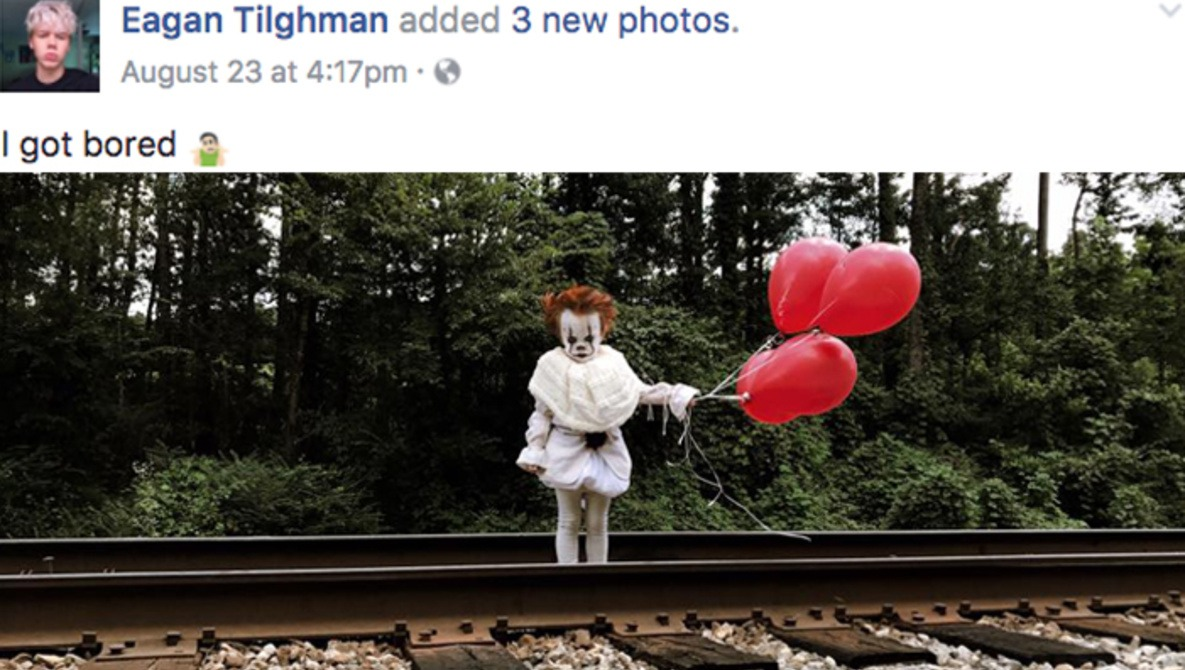 Teenage Photographer Styles His Baby Brother as Pennywise From 'It,' Becomes Internet-Famous in Three Days