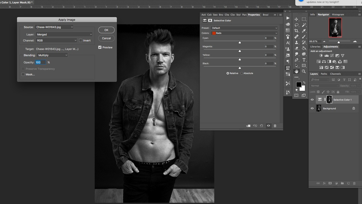 using apply image on layer masks in photoshop fstoppers