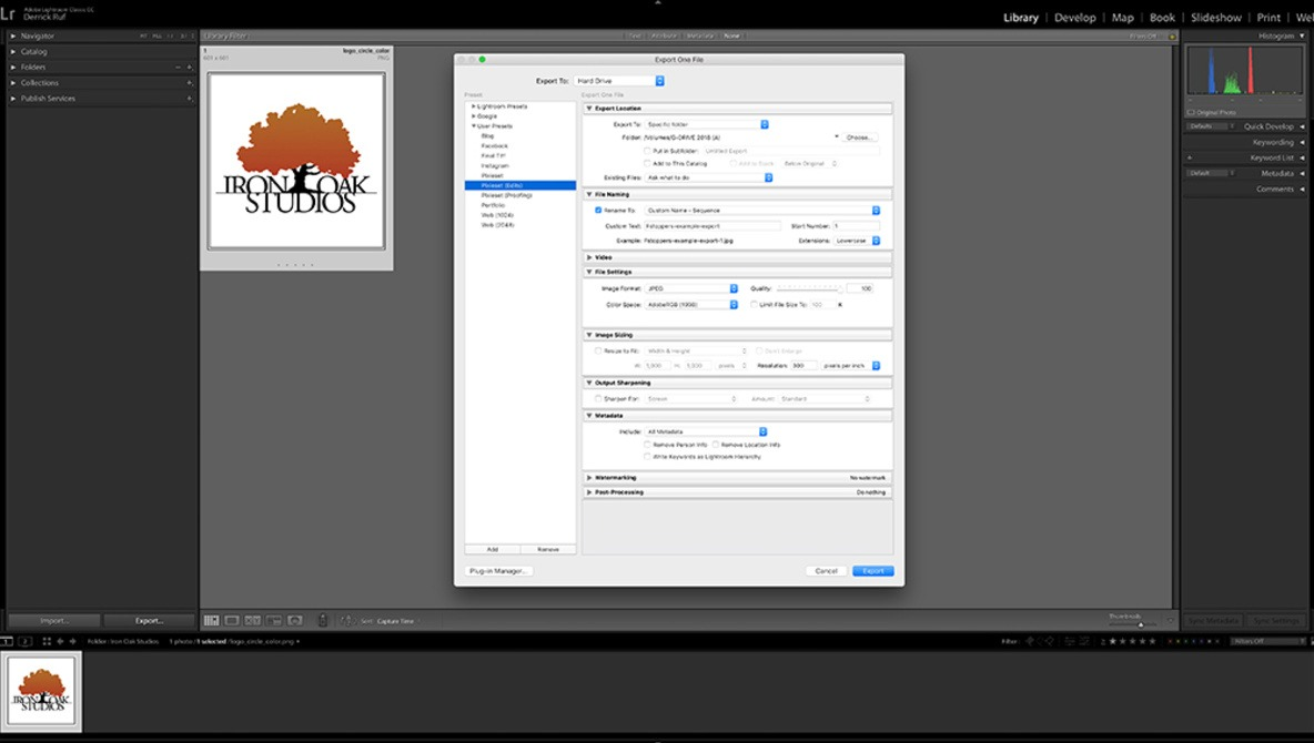 Speed Up Image Exporting With User Presets in Lightroom Classic