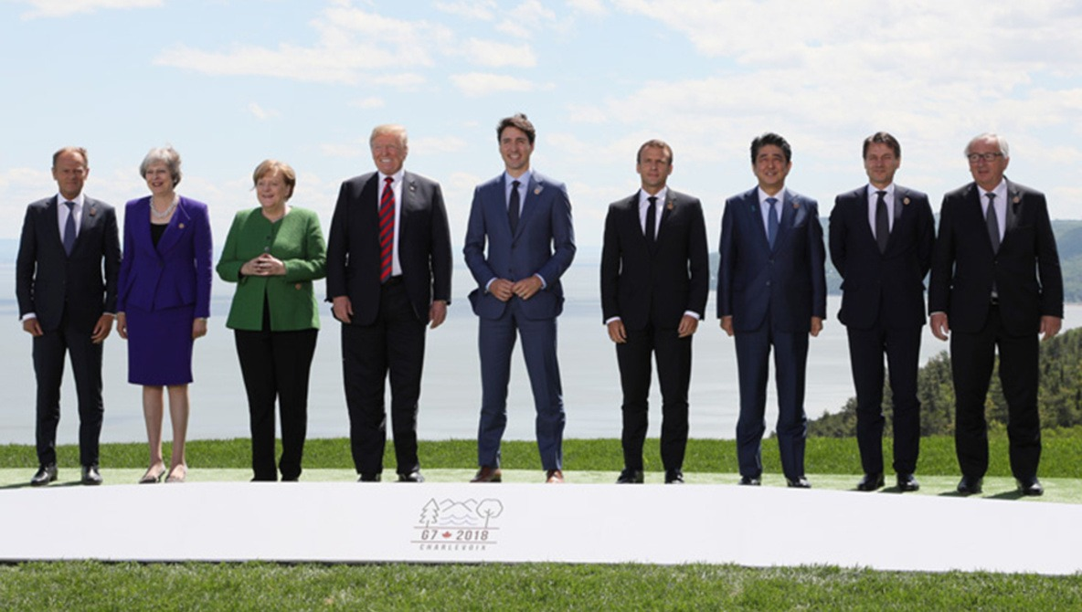 Trump and Merkel: A study in contrasting G7 images