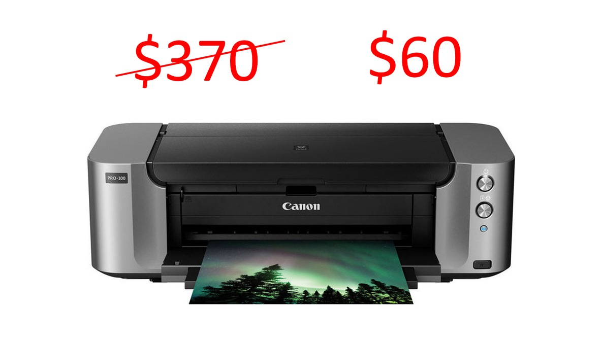 Get a Canon PIXMA PRO 100 Printer for only $60 - Limited Time Offer