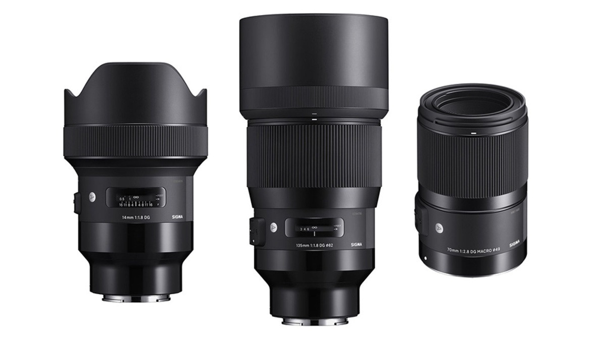 Sigma 14mm f/1.8, 135mm f/1.8, and 70mm f/2.8 Macro Art Lenses for Sony E-Mount Now Shipping
