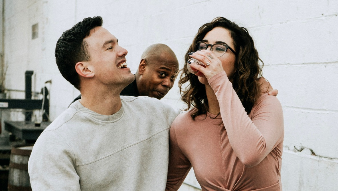 Dave Chappelle Photobombs Engagement Shoot