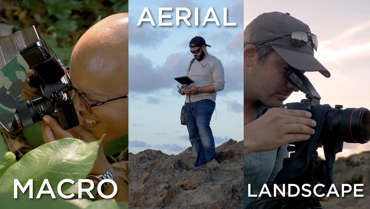 Three Photographers, Three Different Specialties, One Location
