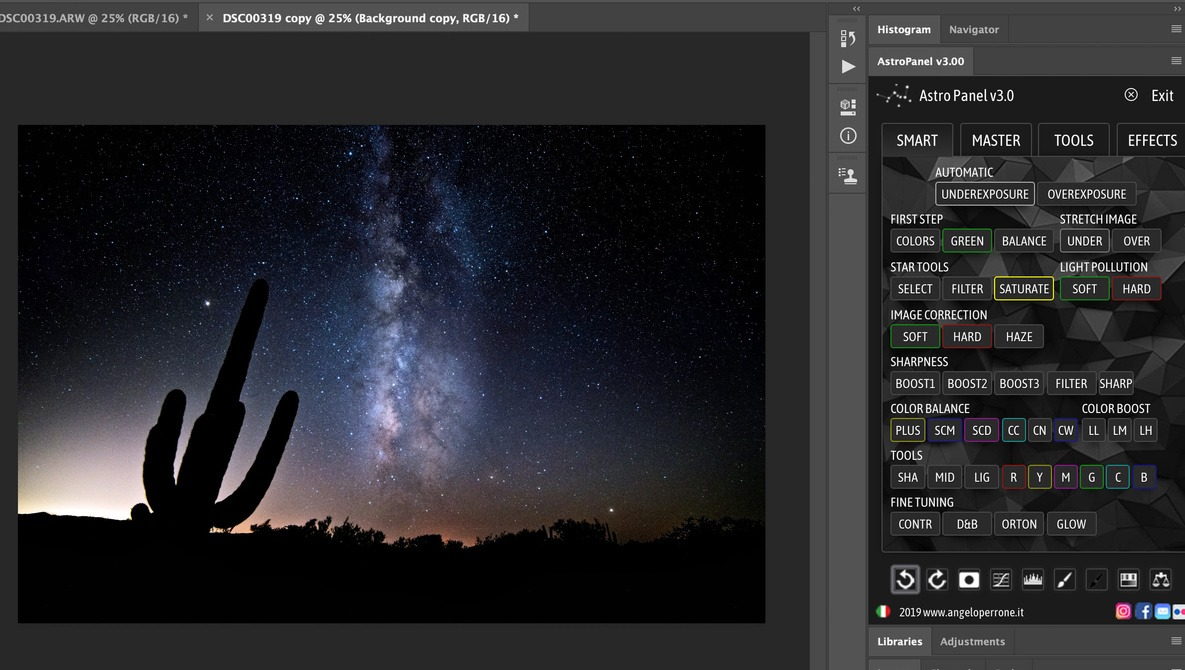 An Astronomical Plugin for Beginners Afraid of Photoshop