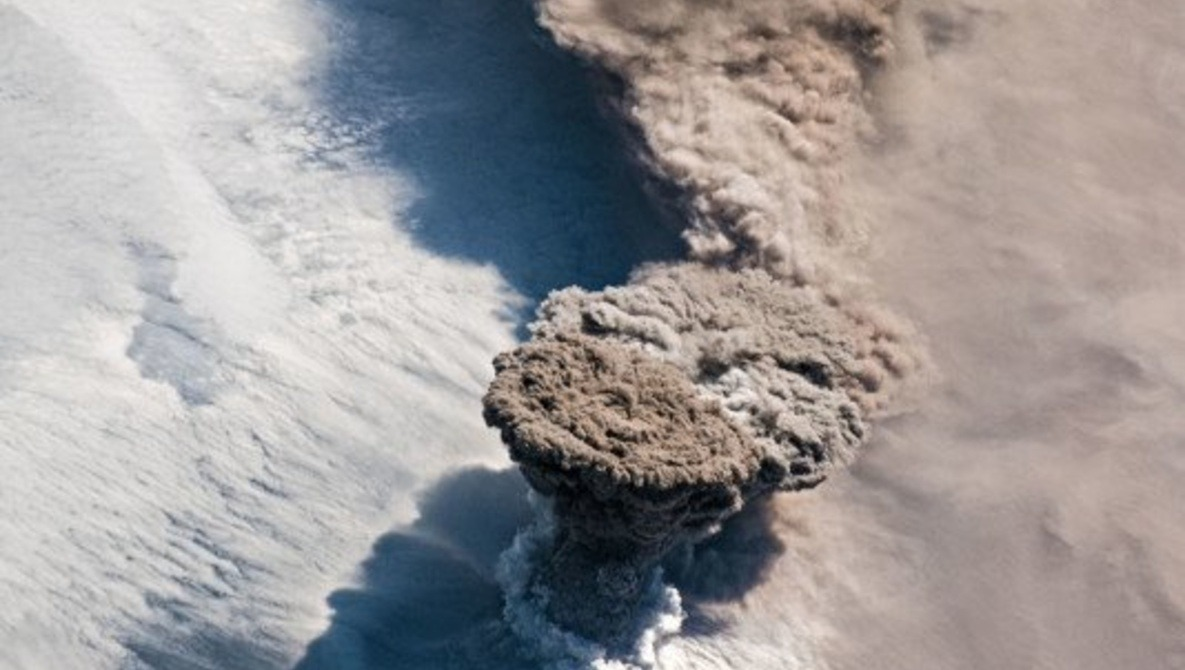 A Volcano Dormant for Almost a Century Erupted, Caught From Space by Astronauts Using Nikon D5