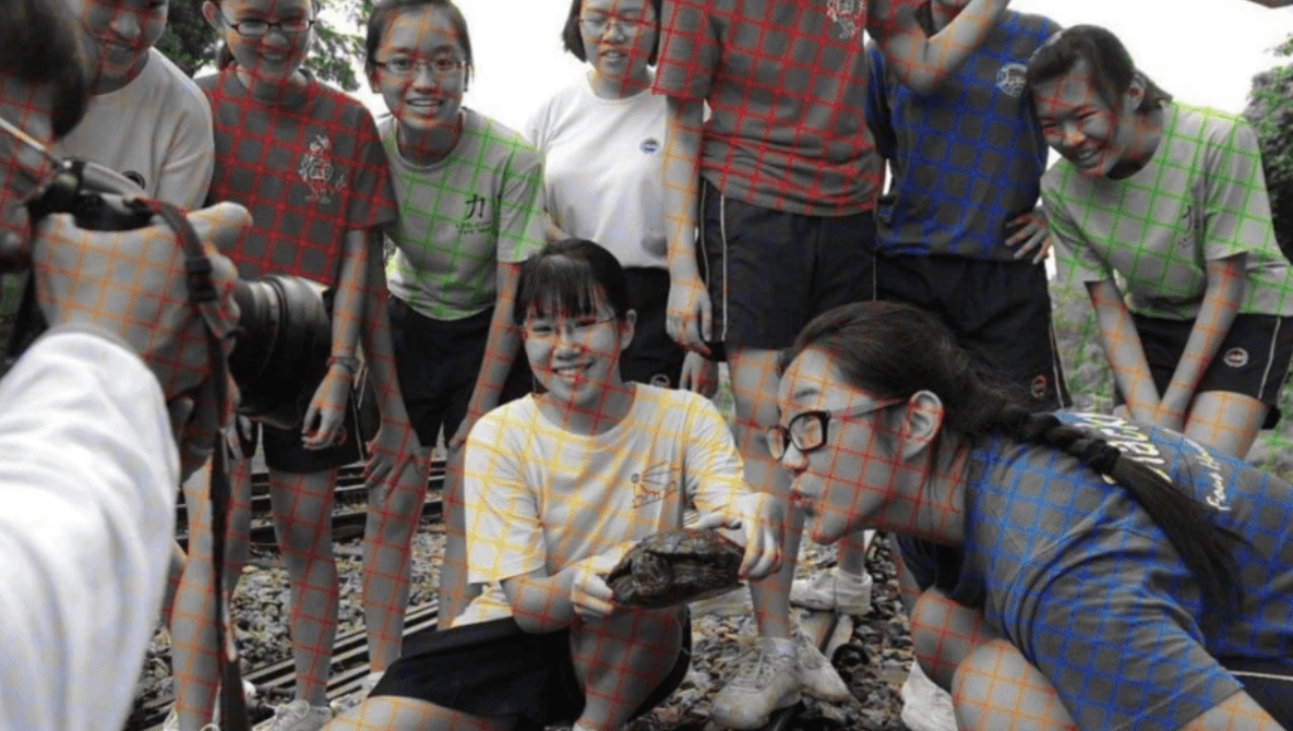 These Grid Lines on Black-And-White Photos Trick Your Brain Into Seeing Colors