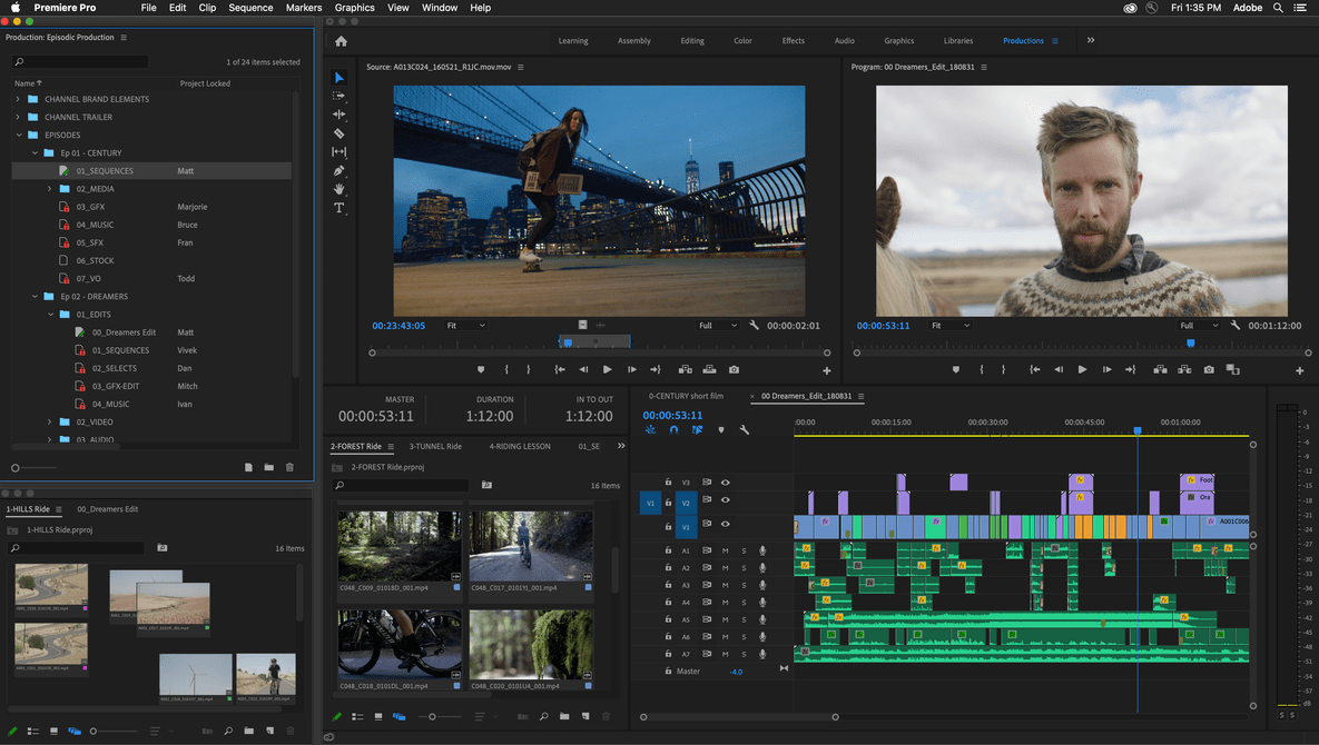 Adobe Premiere Adds Pro Productions Features