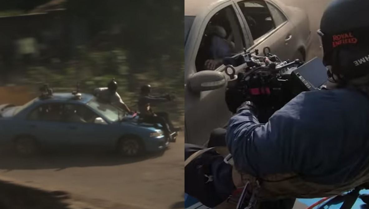 Director Of Netflix Hit Extraction Strapped Himself To Hood Of Car For Chase Scene Fstoppers