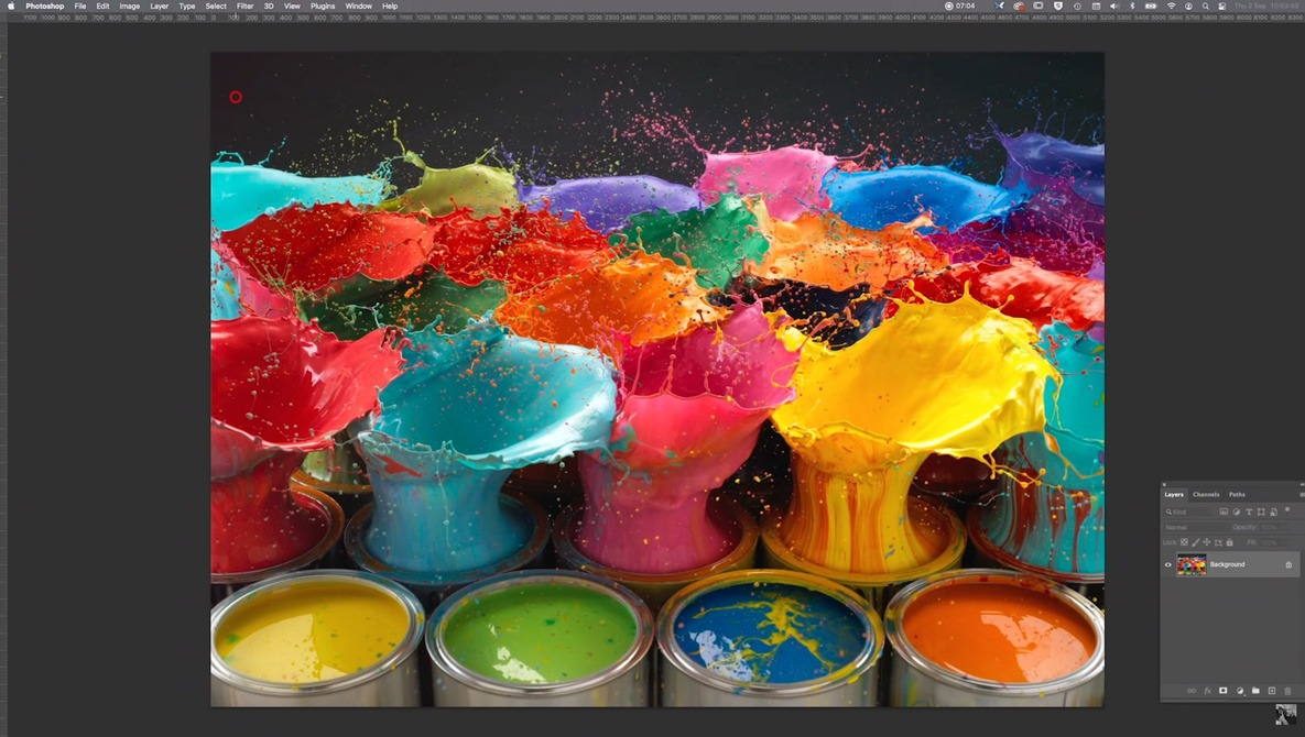 Behind the Scenes of This Paint Explosion Image