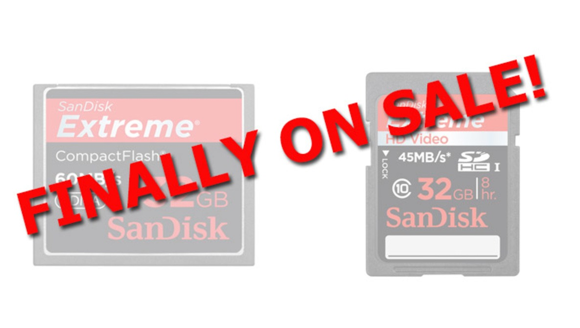[Crazy Deals] Sandisk 32GB Memory Cards On Sale Today Only