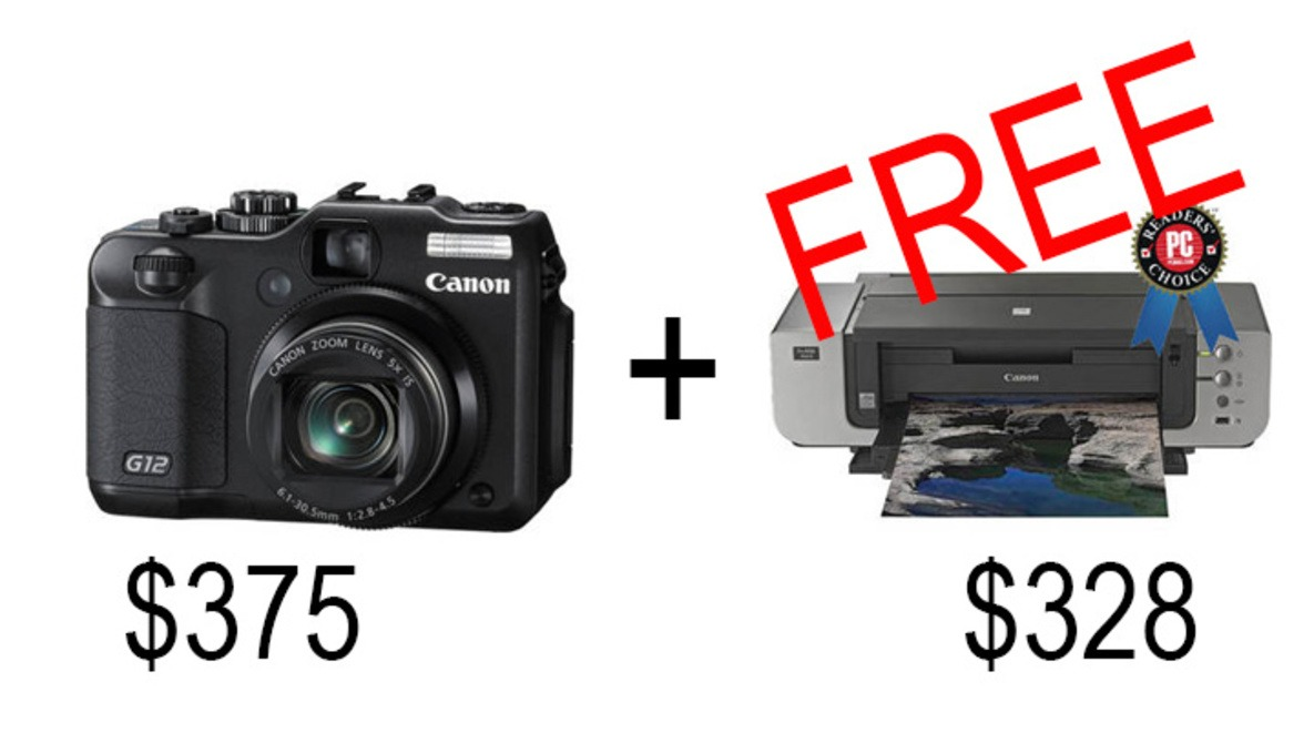 The Best Deal On A Canon G12 Camera Plus A Free $400 Canon Printer