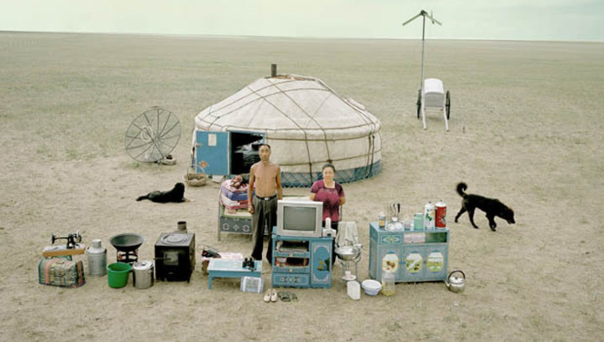 Chinese Families Pose With All Their Earthly Possessions