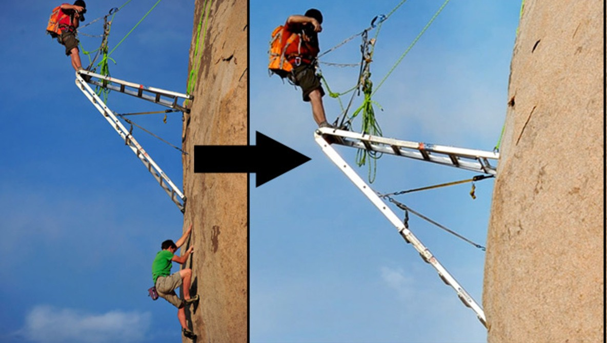 The Secret To Photographing Rock Climbing Is... A Ladder?