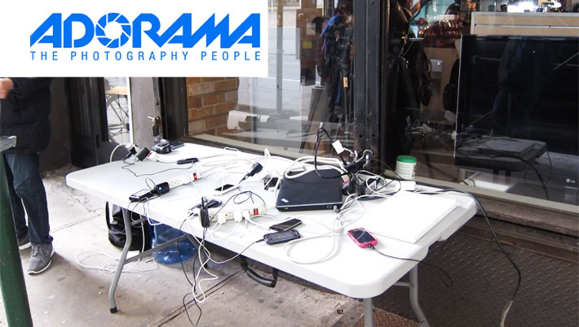Adorama Charging Station For New York Power Outage