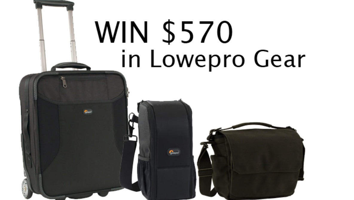 We're Giving One Winner $570 In Lowepro Bags