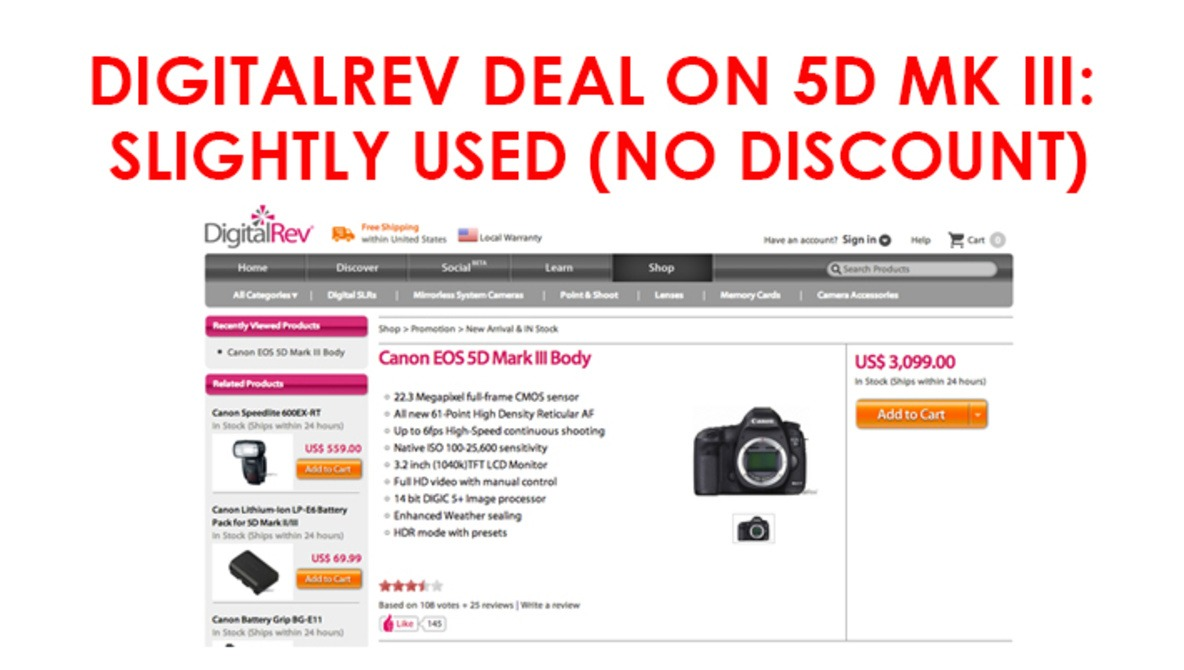 DigitalRev Allegedly Selling Used Cameras As New, And Are Yet To Issue A Response