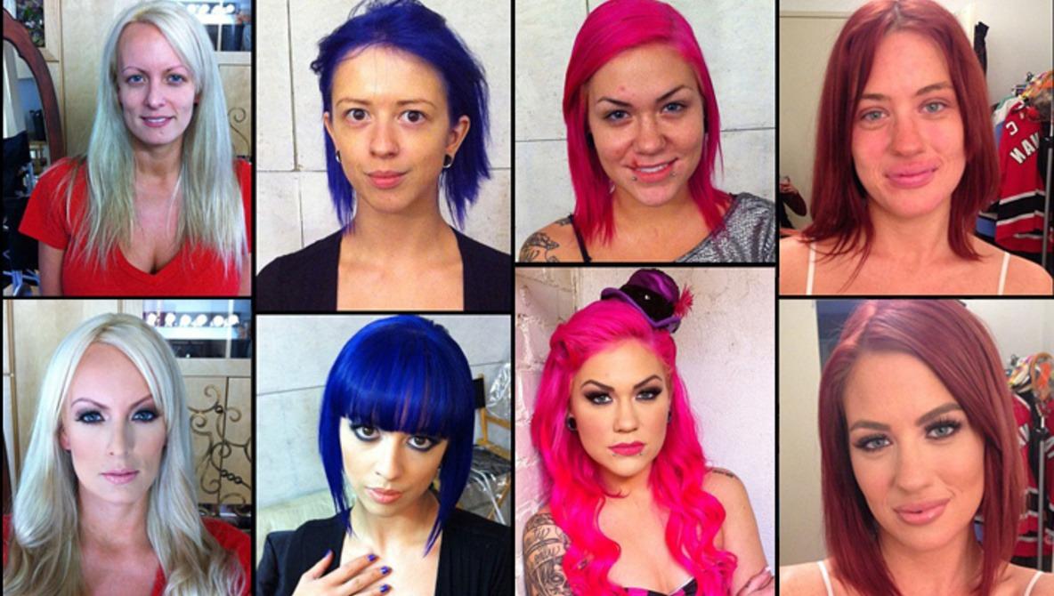 Pornstars Before And After Makeup!