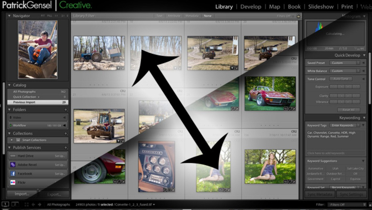 select multiple photos lightroom import