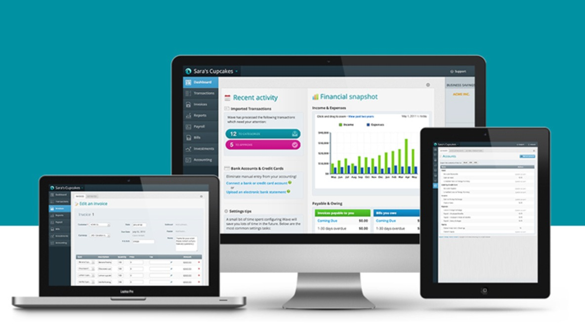 free invoicing accounting receipts and more with wave online