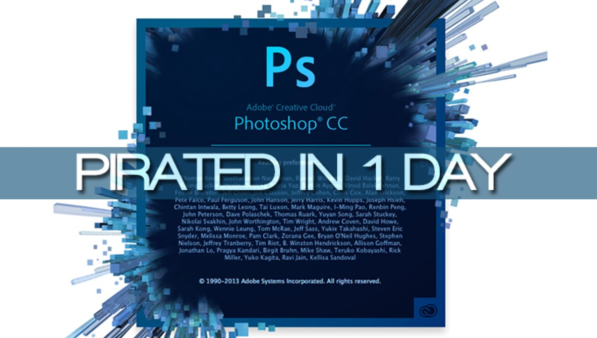 Adobe Photoshop CC Has Already Been Pirated In Just One Day