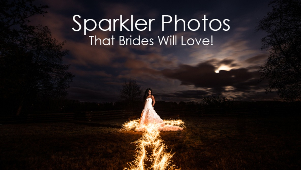 898a7b0229 Sparkler Photos That Brides Will Love