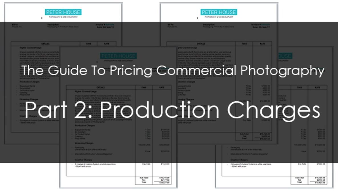 The Guide To Pricing Commercial Photography Part 2: Production Costs