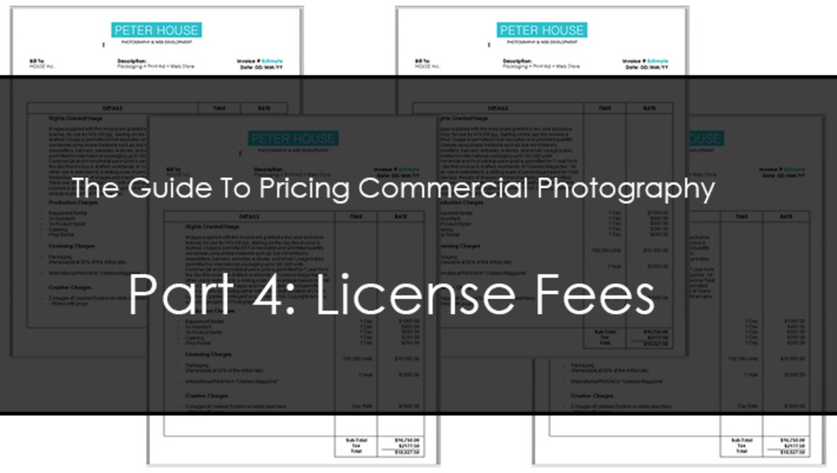 The Guide To Pricing Commercial Photography Part 4: License