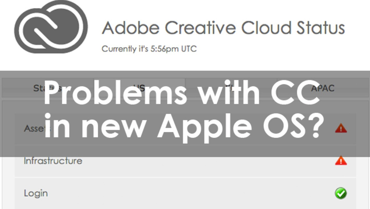 UPDATED: Adobe Creative Cloud Experiencing Issues