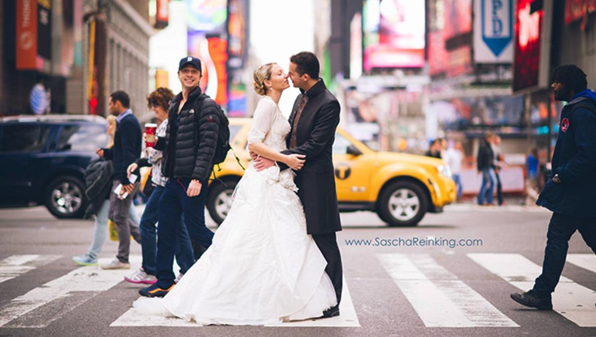 Wedding Photographer Gets Photobombed by Celebrity in NY
