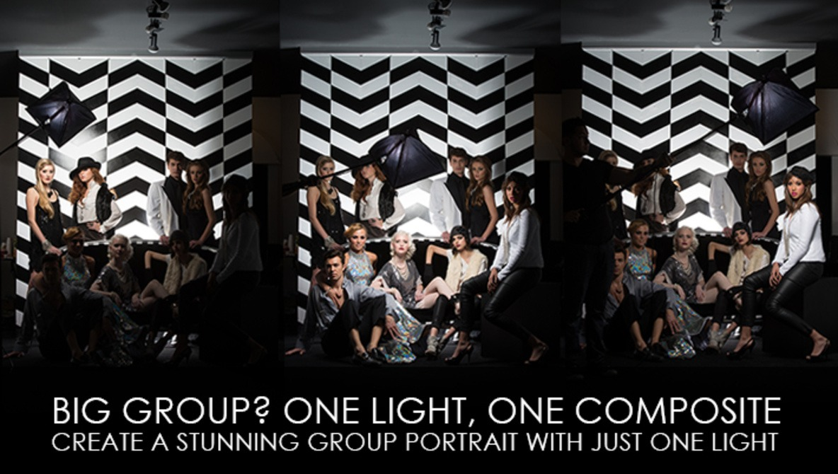 Big Group? One Light, One Composite - Create A Stunning Group Portrait With Just One Light